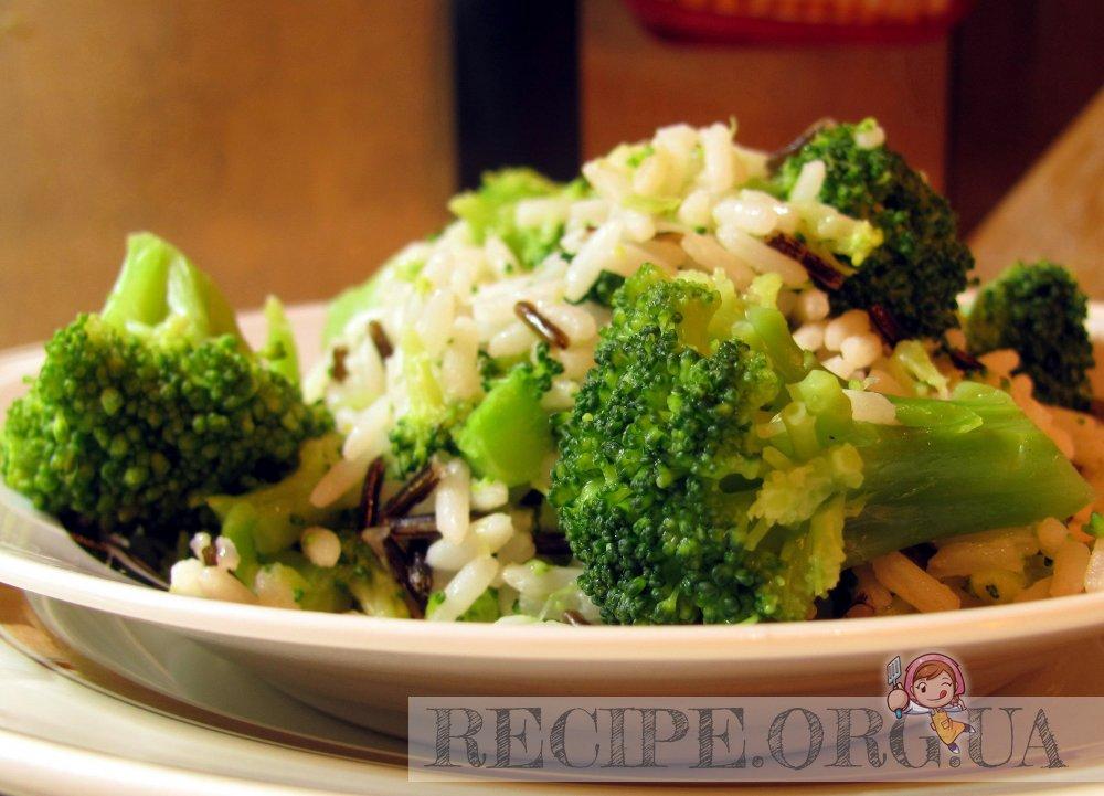 Рис с брокколи. Рецепты с фото: http://recipe.org.ua/recipe/56/
