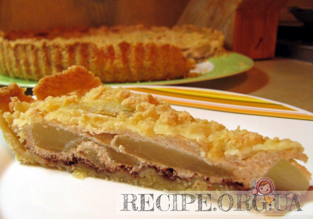 пирог с творогом и грушей в духовке рецепт с фото
