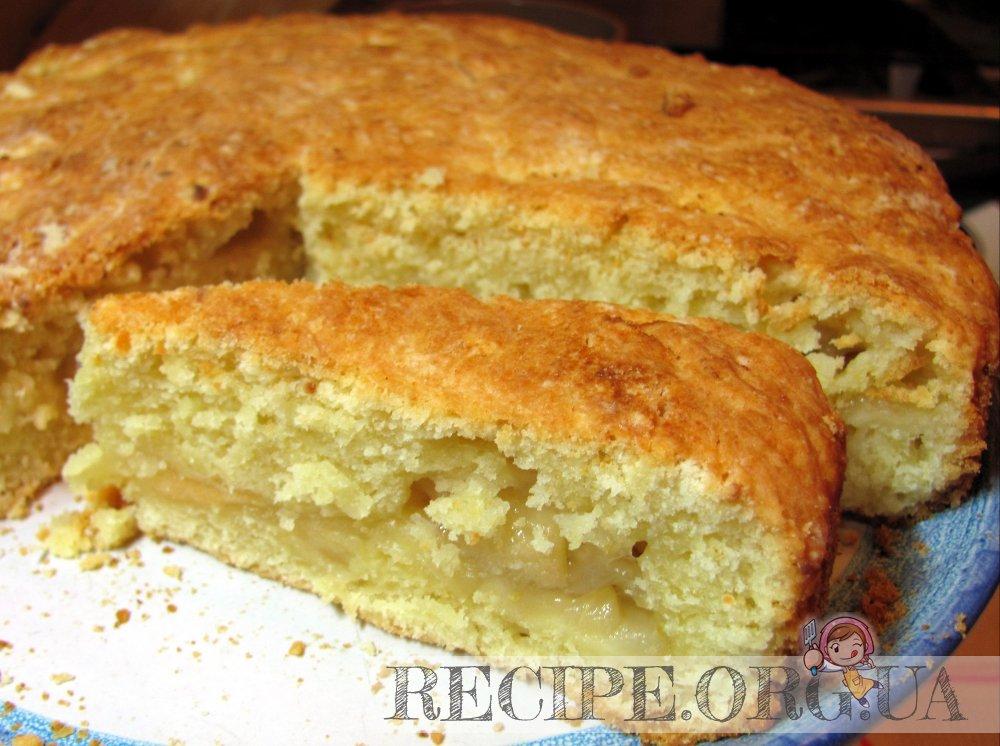 Яблочный пирог с творожным тестом рецепт
