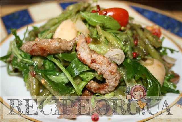 салат с говядиной и фасолью рецепт с фото