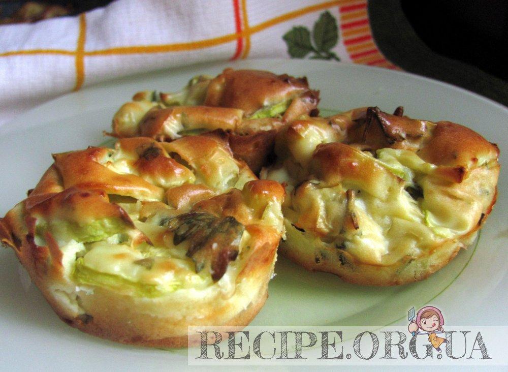 Рецепт Запеканочки из кабачка и порея с фетой с фото