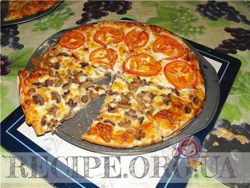 Фото рецепта пицца домашняя